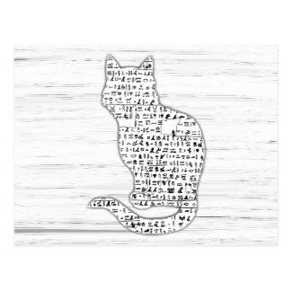 Het Briefkaart van de Hiërogliefen van de kat