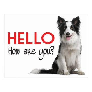 Het Briefkaart van de Hond van het Puppy van Hello