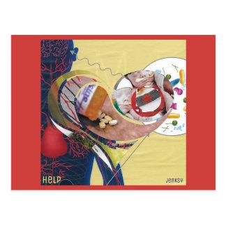 """Het Briefkaart van de """"hulp"""""""