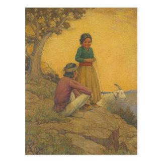 Het Briefkaart van de Indiaan