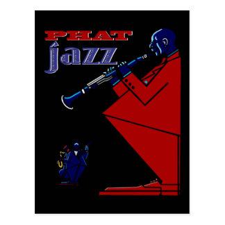 Het Briefkaart van de Jazz van Phat
