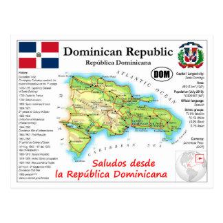 Het Briefkaart van de Kaart van de Dominicaanse