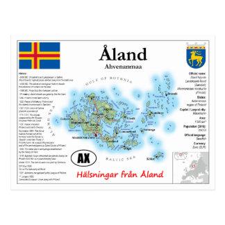 Het Briefkaart van de Kaart van de Eilanden van