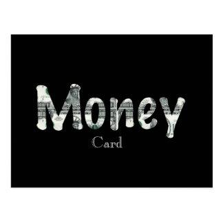Het Briefkaart van de Kaart van het geld
