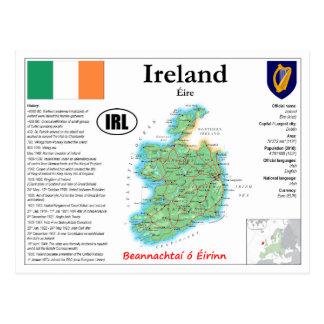 Het Briefkaart van de Kaart van Ierland