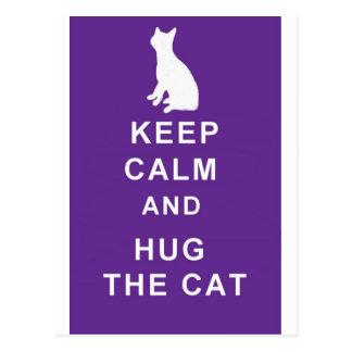 Het briefkaart van de kat houdt Kalm en koestert d