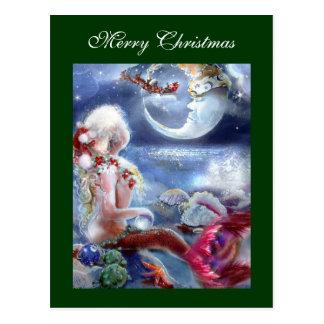 Het Briefkaart van de Kerstavond van de meermin