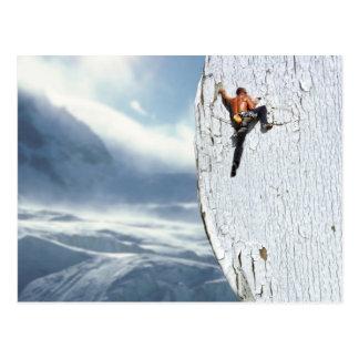 Het Briefkaart van de klimmer
