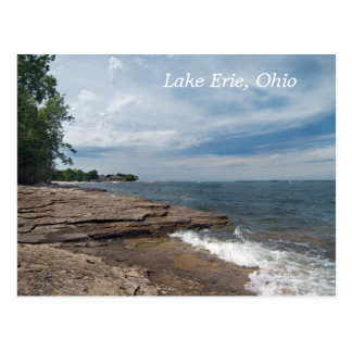 het Briefkaart van de Kust van Erie van het meer