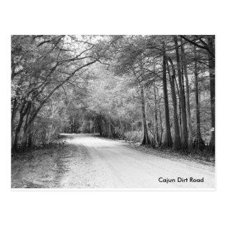 Het briefkaart van de Landweg van Cajun
