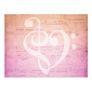 Het Briefkaart van de Muziek van de liefde Briefkaart