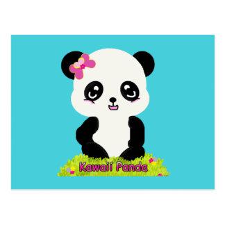 Het Briefkaart van de Panda van Kawaii