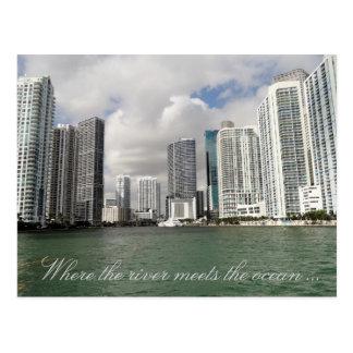 Het Briefkaart van de Rivier van Miami