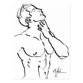 Het Briefkaart van de Schets van het torso