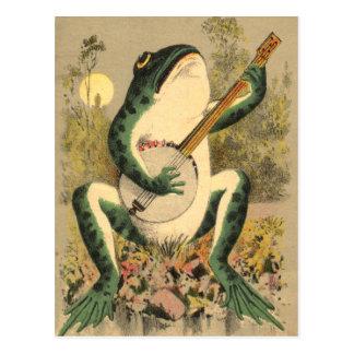 Het Briefkaart van de Serenade van de kikker