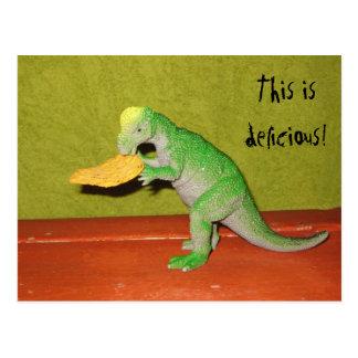 Het Briefkaart van de Spaander van de dinosaurus