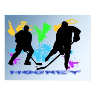 Het Briefkaart van de Spelers van het hockey