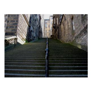 Het briefkaart van de Treden van Edinburgh