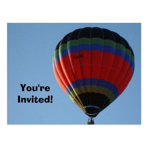 Het Briefkaart van de Uitnodiging van de ballon Wens Kaart