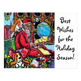 Het Briefkaart van de Vakantie GGBR - Kerstman & B