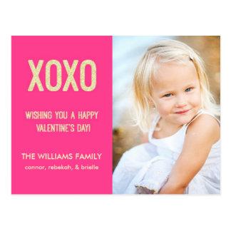 Het Briefkaart van de Valentijnsdag XOXO