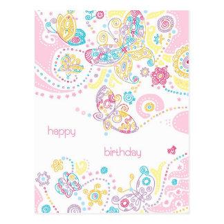 Het Briefkaart van de Verjaardag van vlinders