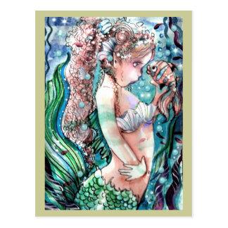 Het Briefkaart van de Vissen van de meermin & van