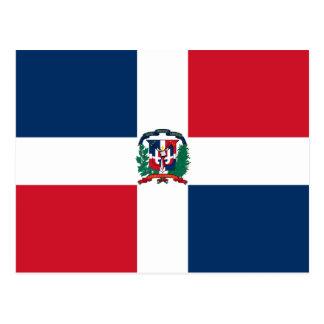 Het Briefkaart van de Vlag van de Dominicaanse