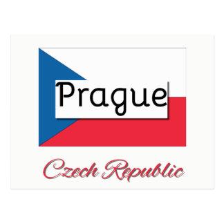 Het Briefkaart van de Vlag van de Tsjechische