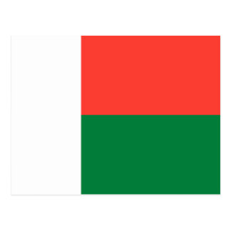 Het Briefkaart van de Vlag van Madagascar
