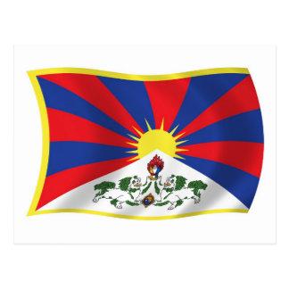 Het Briefkaart van de Vlag van Tibet
