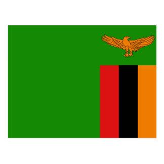 Het Briefkaart van de Vlag van Zambia