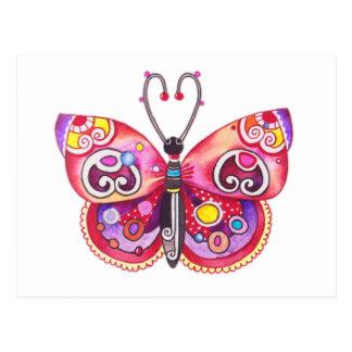 Het Briefkaart van de Vlinder van Whimsy