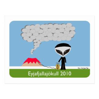 Het Briefkaart van de Vulkaan 2010 van IJsland