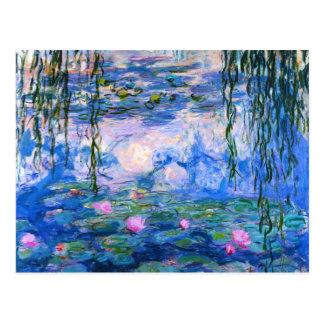 Het Briefkaart van de Waterlelies van Monet
