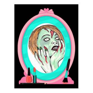 Het Briefkaart van de Zombie van het Gezicht van d
