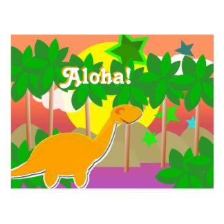 Het Briefkaart van de Zonsondergang van de Dinosau