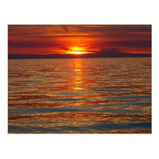 Het Briefkaart van de Zonsondergang van Michigan