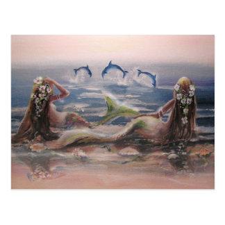 Het Briefkaart van dolfijnen & van Meerminnen