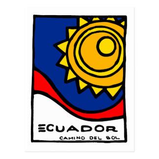 Het Briefkaart van Ecuador