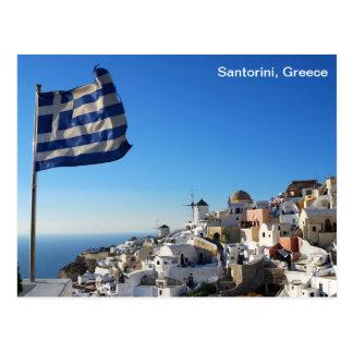 Het Briefkaart van Griekenland met landschap