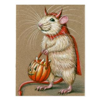 Het Briefkaart van Halloween van de Duivel van de