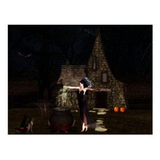 Het Briefkaart van Halloween van de Heks van het