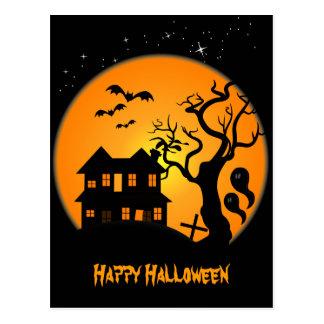 Het Briefkaart van Halloween van het spookhuis