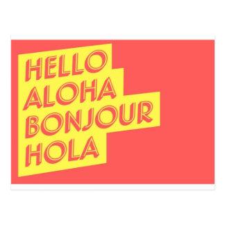 Het Briefkaart van Hello
