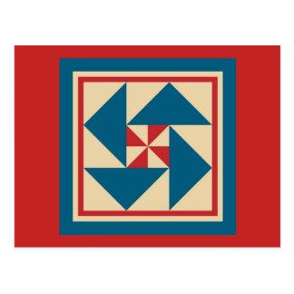 Het Briefkaart van het dekbed - Patriottische