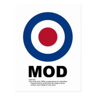 Het Briefkaart van het Doel van Mod. van jaren '60