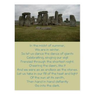Het Briefkaart van het Gedicht van de