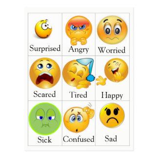 Het Briefkaart van het gevoel - PECS. De tekst kan