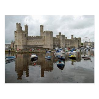Het Briefkaart van het Kasteel van Caernarfon